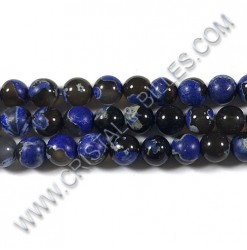 Agate Fire Bleu, 10mm...