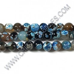 Agate Fire Turquoise, 10mm