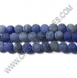 Agate crackle Bleu royal...