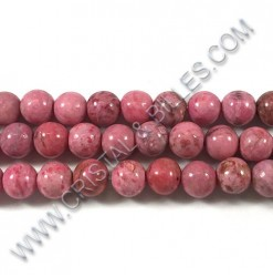 Agate crazy Rose, 08mm -...