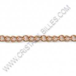 Twist ovale 5 x 3.5mm, Inox...