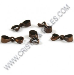 Bail 2x7mm, Antique copper