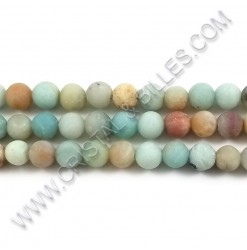 Amazonite matte 08mm - Qty...