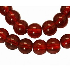 Glass round Red 8mm - Qty :...