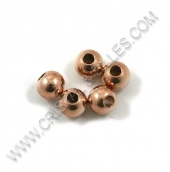 Billes 08mm, Inox Or rose...