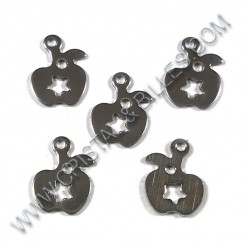 Charm apple 11x8mm,...