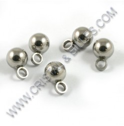Charm ball 6mm, Stainless...