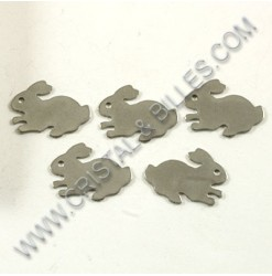 Breloque lapin 16x12mm,...