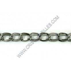 Double 11x8mm, Stainless...