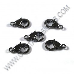 Clasp lobster 12mm, Black...