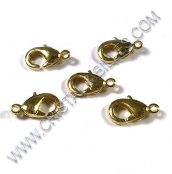 Clasp lobster 12mm, Gold