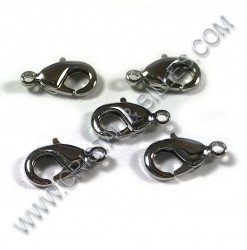 Clasp lobster 15mm, Nickel