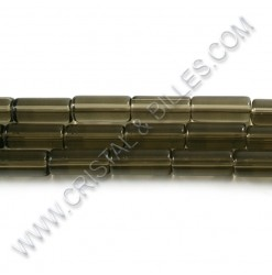 Glass tube 15x6mm, Grey -...