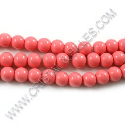 Glass round Painted Coral...