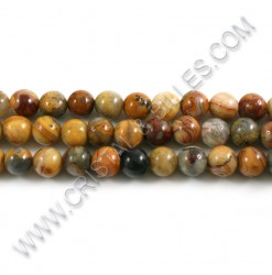Agate crazy Brun, 08mm